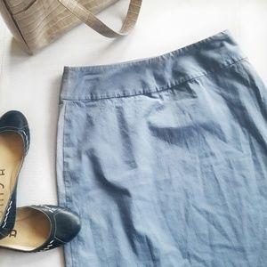 Banana Republic Grey Blue Stretch Work Skirt 6 475